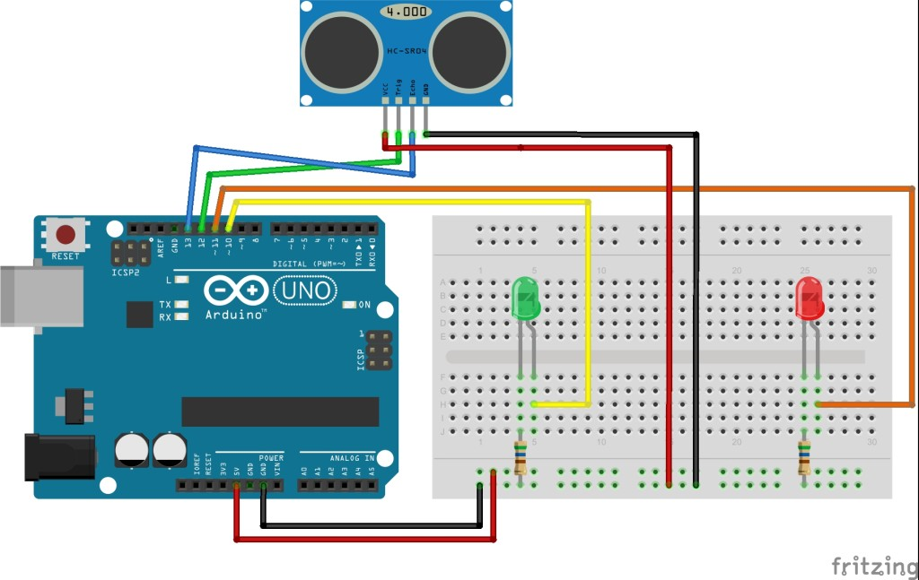 Arduino_Ultrasonic_HC-SR-04_connection