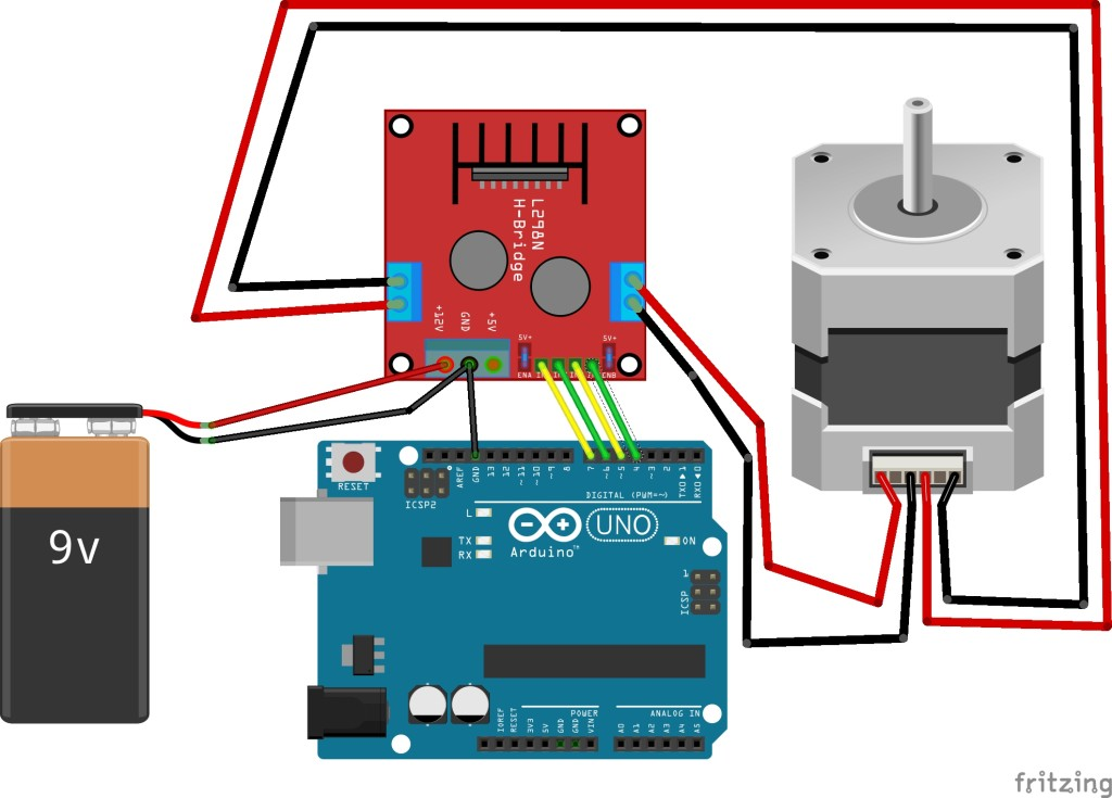 Tutorial L298n Dual Motor Controller Modules And Arduino likewise Manually Controlling Bipolar Stepper Motor With Arduino And Easydriver besides Using 74hc595 And Cd4017 To Expand Io Of Mcu To Drive A Scrolling Dot Matrix Display besides 43650 in addition L293d Help Motors Not Running At Same Speed. on circuit diagram arduino motor shield